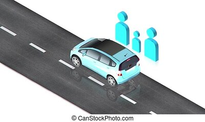 No crosswalk - part of isometric collections of animated...