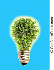 Eco tree lightbulb - Glowing tree in lightbulb socket...