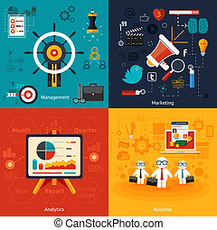Icons for marketing, management, analytics - Icons for...