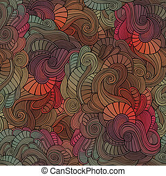 Vector vintage seamless abstract floral pattern