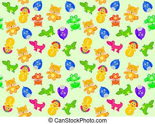 toy animal seamless pattern - Toy animal seamless pattern....
