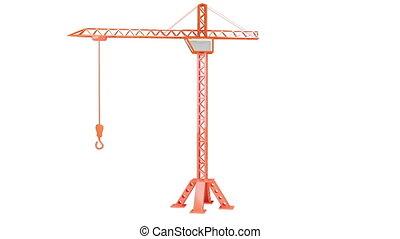 Crane - Animation of Crane on white background