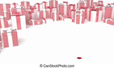 arrow on a presents background - 3D animation of a simple...