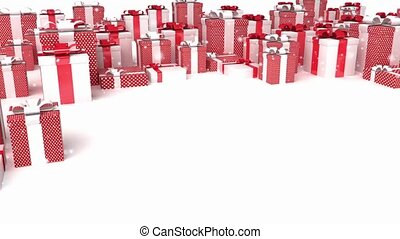 presents background - 3D animation of a simple objects for...