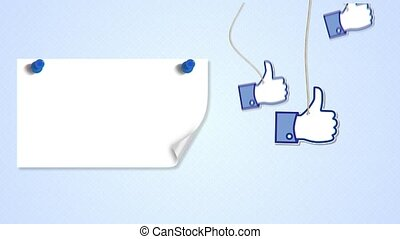 thumb up applique, loop animation