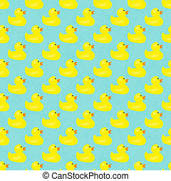 Yellow Ducks Pattern Repeat Background that is seamless and...
