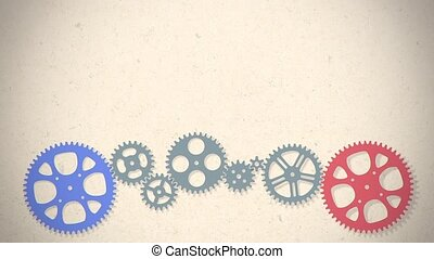 loop animated gears animation - loop animation of two gears...