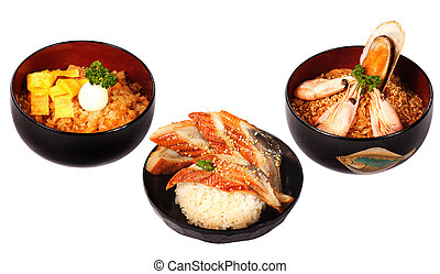 Japanese cuisine - Allsorts from seafood in the Japanese...