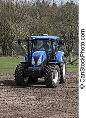 agricultural machinery on the rural landscape and new...