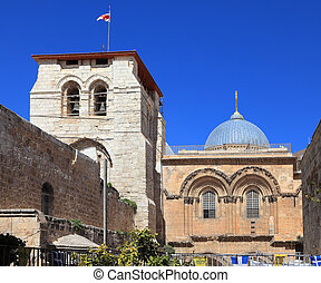 Church of the Holy Sepulchre in Jerusalem Photo taken from...