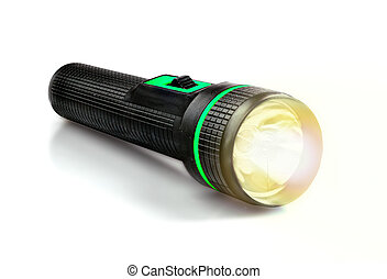 Light Beam from Electric Flashlight - Light Beam from...
