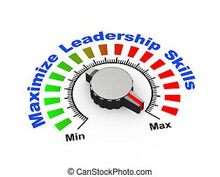 perilla, habilidades,  -, liderazgo, maximizar,  3D
