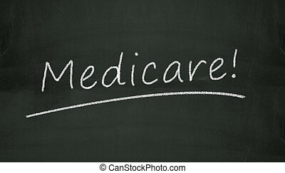 chalkboard medicare illustration - Illustration of word...