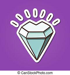 Heart shaped diamond stone.