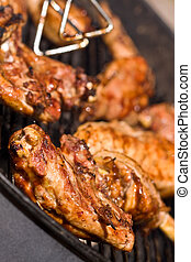 bbq - barbecue chicken on the grill with sauce