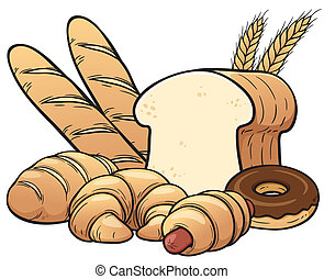Breads set - Vector illustration of breads set
