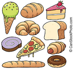 Bakery set - Vector illustration of bakery set