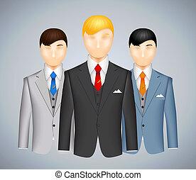 Trio of businessmen in suits
