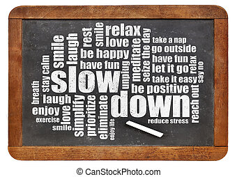 reducing stress tips - slow down and relax - reducing stress...