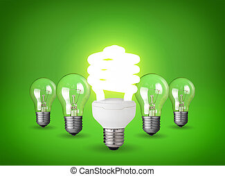light bulbs - Idea concept with light bulbs