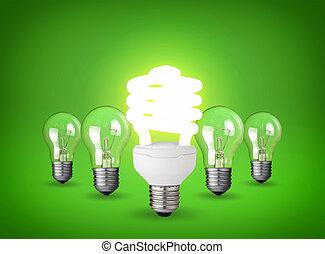 light bulbs - Idea concept with light bulbs