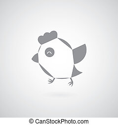chicken vector on a gray background