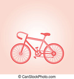 pink retro bicycle