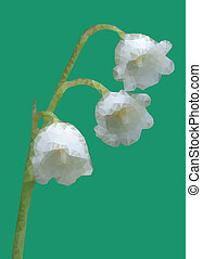 Geometic Lily of the valley flower