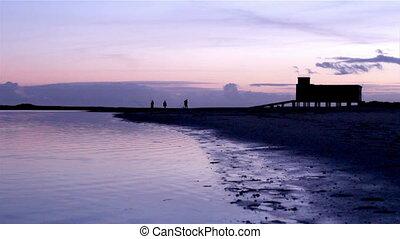 RiaFormosa-Fuseta Sunset 007 - Sunset and historic...