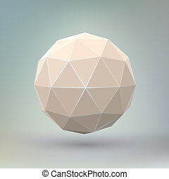 Abstract geometric spherical shape. - Abstract geometric...