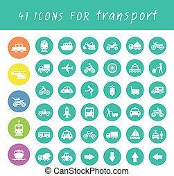 transport icons set - vector basic icon for transport