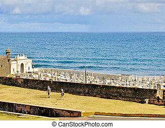 Cemetary - Santa Maria Magdalena Cemetary in Old San Juan,...