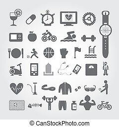 Sports and healthy icons