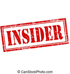 Insider-stamp - Grunge rubber stamp with text Insider,vector...
