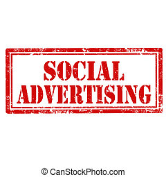 Social Advertising-stamp - Grunge rubber stamp with text...