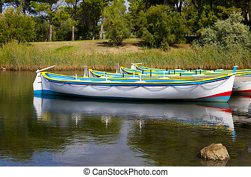 Colorful Row Boats
