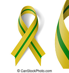 Olive-green ribbon devoted to 65 anniversary of liberation...