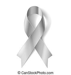 Silver ribbon - Silver awareness ribbon as symbol of...