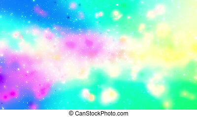 Cosmic Cloud Looping multicolor animated background