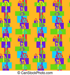 Seamless pattern with gifts on a yellow background