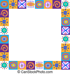 Frame with colorful ethnic pattern