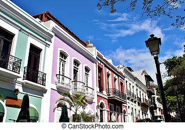 Architecture in Old San Juan - Caribbean architecture in San...
