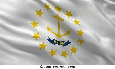 US state flag of Rhode Island loop - US state flag of Rhode...