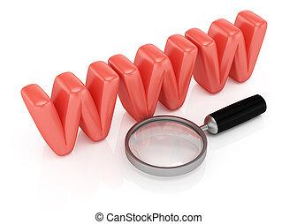 Web searching symbol