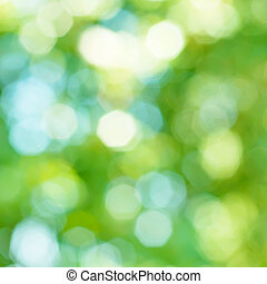 Natural bokeh - Natural outdoors bokeh background in green...