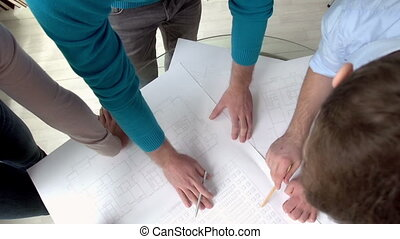 Group Work - High angle of building plan design improvement,...