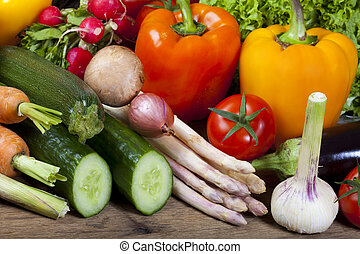 Healthy fresh vegetables from the weekly market