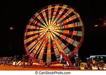 Ferris wheel an night in Batumi, Georgia (long exposure)
