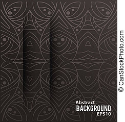 Abstract background with cuts. Vector illustration