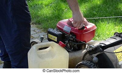 hand fill fuel tank